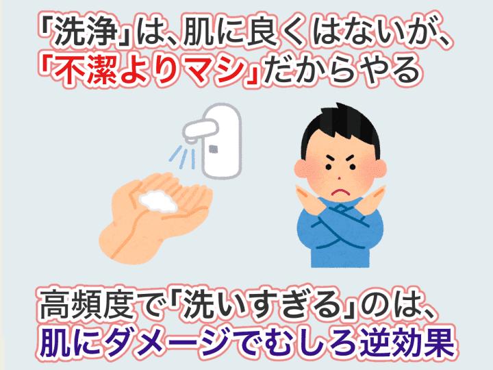洗いすぎるのはむしろ逆効果
